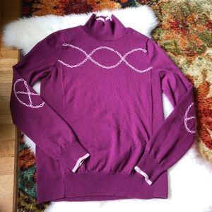 Athleta🌿Wool Berry wool Running Pullover sweater